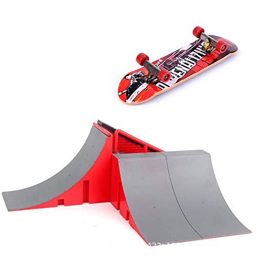 guojiwu El Dedo monopatín del Juguete del Patio Mini diapasón rampa de Skate Parque Kit de rampa de Repuesto Formación Puntales último Juguete de la Novedad