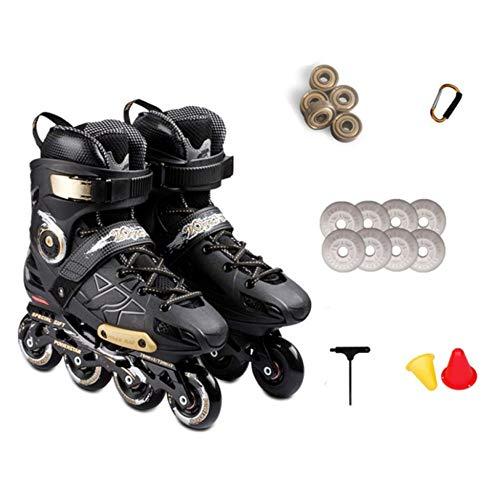 MLSS LI Inline-Skates Für Erwachsene, Herren Und Damen Professionelle Flache Blume Eislaufen Blinkende Rollschuhe,C-43