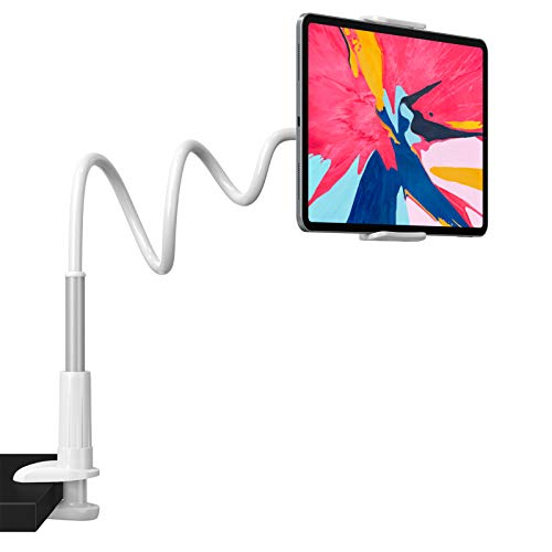 Andobil Gooseneck Tablet Holder - Upgraded Tablet Stand Mount Compatible with iPad iPhone/Nintendo Switch/Samsung Galaxy Tabs and More 4.6-10.5' Devices