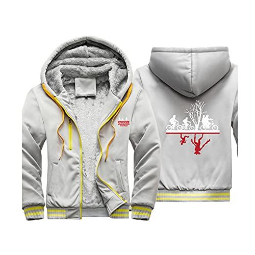 HOBEKOK Sudadera con capucha para hombre, con cremallera, chaqueta de punto, de manga larga, cálida, poliéster, para niños y niñas