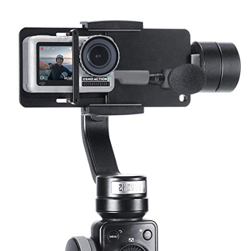 YiliWit Action Camera Adapter supporto in lega di alluminio interruttore piastra solido Handheld Gimbal Mounnt adattatore per GoPro Hero 6/5/4/3 +, Yi, DJI Osmo mobile 2/Zhiyun Smooth Q