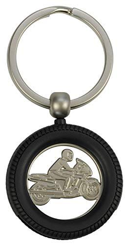 Schlüsselanhänger mit Einkaufswagenchip Motorrad