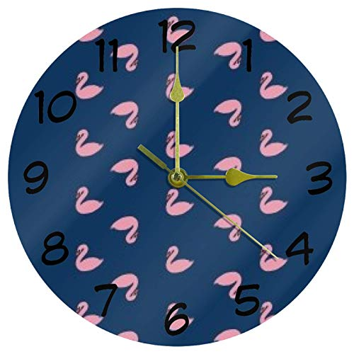Eslifey Reloj redondo de acrílico con diseño de ganso tonto, no hace tictac, funciona con pilas,...