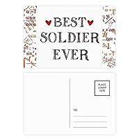 これまでに最高の兵士を引用する職業 公式ポストカードセットサンクスカード郵送側20個