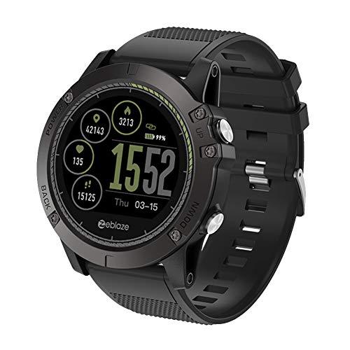 AchidistviQ Zeblaze VIBE3 HR wasserdichte Pulsuhr Sport Smart Watch für Android iOS Schwarz