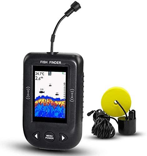 XYNB Fischfinder, Portable Angeln Sonar Sensor, Fischfinder Wired Farbe Tragbarer LCD Tiefe Finder Echolot, Fisch Finder Kamera