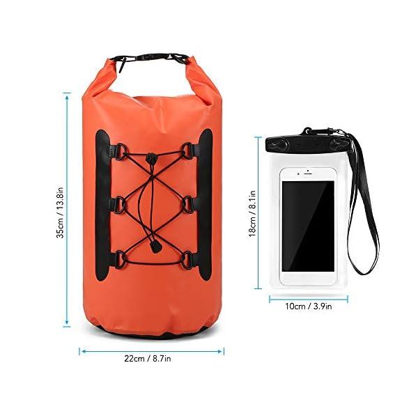41YoUaaFSRL. SS600  - Lixada Bolsa Estanca Seca Impermeable Roll-Top Mochila Impermeable para Trekking Nadar Kayak Deportes Acuáticos 15L