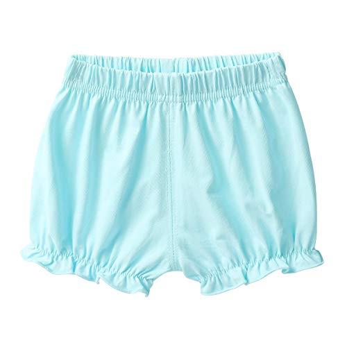 ranrann Bébé Fille Bloomer Culotte Eté Dentelle N?UD Couvre-Couche Naissance Shorty sous-Vêtement Short à Pois Panties 9 Mois -3 Ans Bleu 9-12 Mois