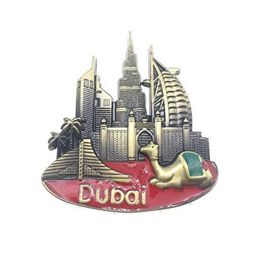 Weekino Dubai UAE Calamità da frigo 3D Polyresin Tourist City Viaggio Souvenir Collezione Regalo Forte Frigorifero Sticker