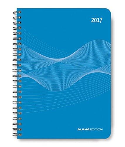 Wochenplaner PP-Einband blau 2017 - Kalender-Ringbuch A5 / Cheftimer A5 - Ringbindung - 1 Woche 2 Seiten - 128 Seiten