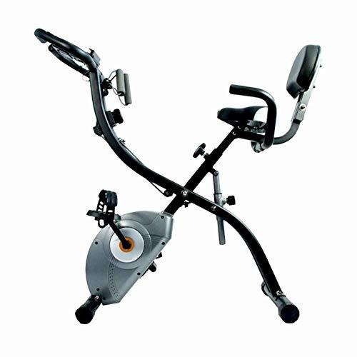 CHNG Horno eléctrico Bicicleta de Ejercicio para Interiores, Bicicleta Plegable con Control magnético, Pedal Antideslizante, Equipo de Ejercicio de oxígeno para Ejercicio