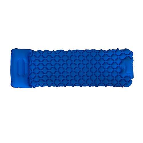 Materassino gonfiabile a prova di umidità per esterni, spiaggia, portatile, impermeabile, leggero, colore: blu