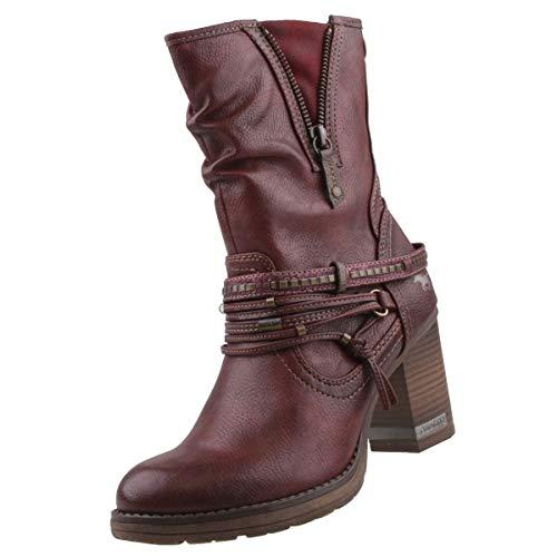 MUSTANG Damen Stiefel Bordeaux, Schuhgröße:EUR 40