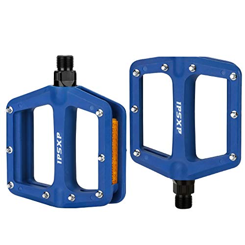 IPSXP Montaña Bicicleta Pedales, 3 cojinetes para Bicicleta de Carretera BMX MTB Road Bicycle 9/16 Pulgadas(Azul)