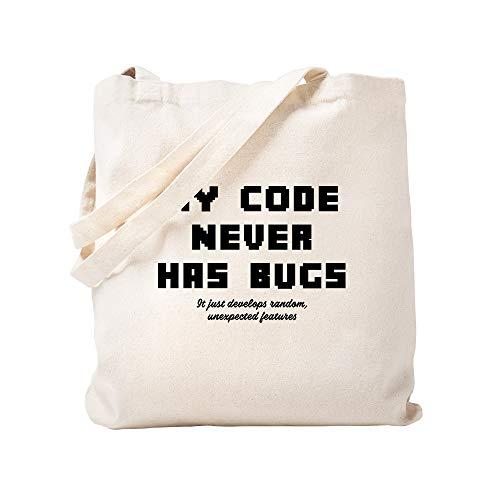 CafePress My Code Never Has Bugs Tragetasche, canvas, khaki, S
