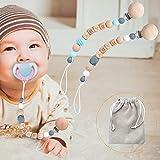 Pinza para chupete Bebé Niños Niñas Cuentas de silicona para dentición pacifie Soporte para juguetes de dentición Alivio de la dentición Mordedores Juguetes Soothie Chewbeads Madera de haya