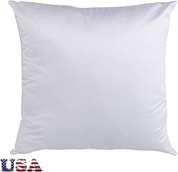 H E 50pcs Carton Plain White 3D Sublimation Blank Pillow Case Fashion Cushion Cover With Concealed Zippers US Stock