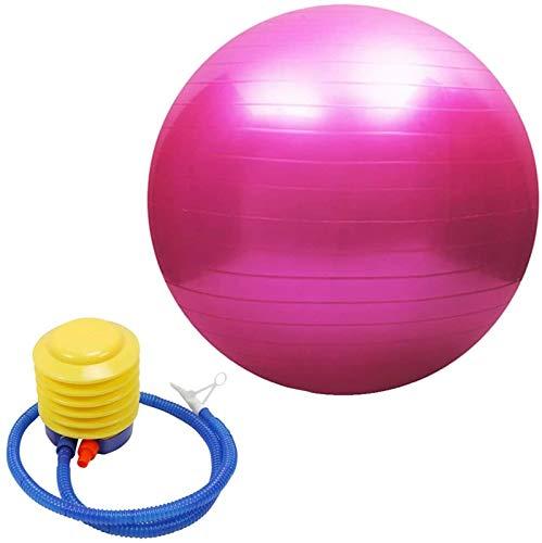 Gym Ball 65cm Anti Burst with Pump,Balance Balls for Exercise,Exercise Ball Pregnancy 55cm,Birthing Ball 65cm Anti Burst with Pump,for Pilates Fitness Exercise Training Core Strength (Rosa, 85cm)