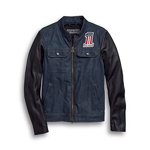 HARLEY-DAVIDSON® Men's Arterial Abrasion-Resistant Denim Riding Jacket