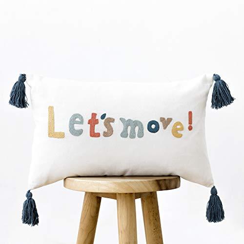 Kenay Home Move Cojín Decorativo Cama Infantil, 50x30cm (AnchoxAlto)