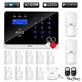 ERAY WM3FX WiFi + GSM / 3G Sistema di Allarme Domestico Wireless, Antifurto Kit con Pannello di Controllo, APP Gratuita per iOS/Android, Carte RFID, SMS e Chiamata, Voce e Schermo LCD in Italiano