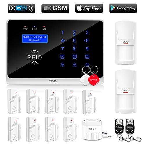 ERAY WM3FX WiFi + GSM / 3G Sistema di Allarme Domestico Wireless, Antifurto Kit con Pannello di Controllo, APP Gratuita...