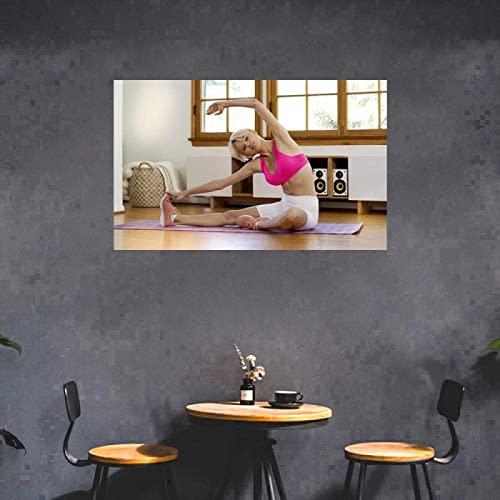 SXXRZA Arte della Parete su Tela 50x70 cm Senza Cornice Palestra Bodybuilding Sexy Ragazza Fitness Poster Esercizio Palestra di casa Decorazione Pittura Motivazione Yoga Stanza Foto