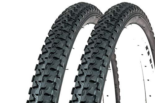 2 Stück 26 Zoll Fahrrad Reifen 47-559 MTB Mountain City Bike Tire 26x1.75 Mantel Decke schwarz
