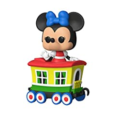 From Disney 65th, Casey Jr Train Ride, Minnie in Car, as a stylized Pop! Train Stylized collectable stands 4.5 inches tall, perfect for any Disney 65th fan! Collect and display all Disney 65th POP! Vinyls!