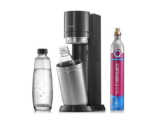SodaStream Duo Titan 1+1 Wassersprudler, inkl. Glasflasche, Kunststoffflasche