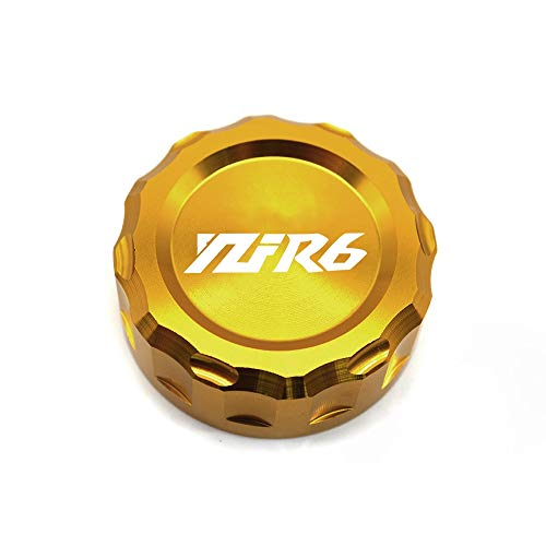 WONYAN Motorfiets Onderdelen Motorcycle Brake Reservoir Kapje Oil Cup Cover for YAMAHA YZFR6 YZF R6 YZFR6 2006 2007 2008 2009 2010 2011 2012 2013 2014 (Color : Gold)