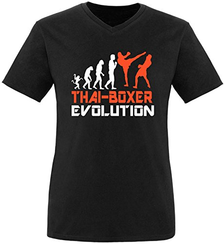 EZYshirt® Thai Boxing Evolution Herren V-Neck T-Shirt