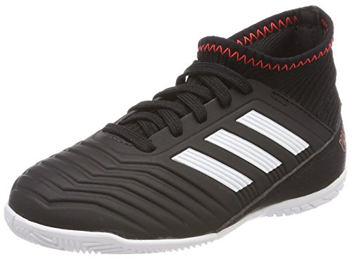 adidas Unisex-Kinder Predator Tango 18.3 IN Gymnastikschuhe, Mehrfarbig (Core Black/FTWR White/solar Red), 33 EU