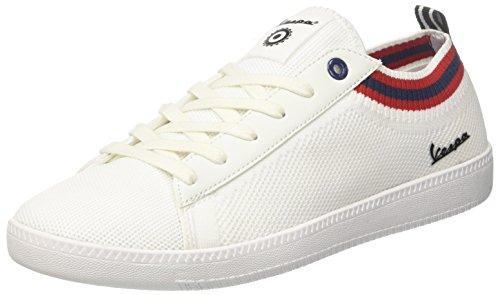 Vespa Footwear Unisex-Erwachsene Pop Gymnastikschuhe, Weiß (Bianco 10), 40 EU
