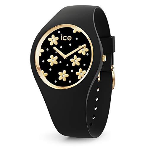 Ice-Watch - ICE flower Precious black - Reloj nero para Mujer con Correa de silicona - 016659 (Small)