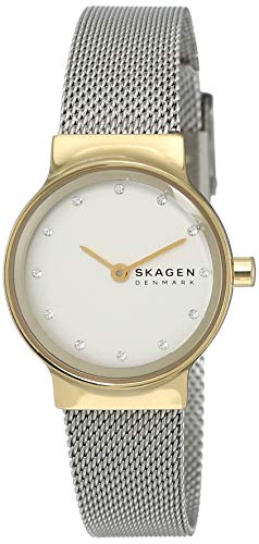 Skagen Damen Analog Quarz Uhr mit Edelstahl Armband SKW2666