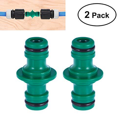 BESTONZON 2pcs mamelons bidirectionnels jonctions adaptateur 1/2 pouce en plastique rapide raccord pour jardin maison
