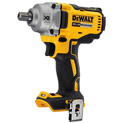 DEWALT 20V MAX XR Cordless Impact Wrench Kit with Detent Pin Anvil, 1/2-Inch,...