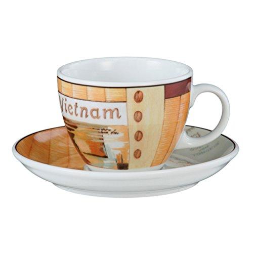 Seltmann Weiden VIP. Cappuccinotasse mit Untertasse, Kaffeetasse, Vietnam, Porzellan, Spülmaschinenfest, 220 ml, 1648108