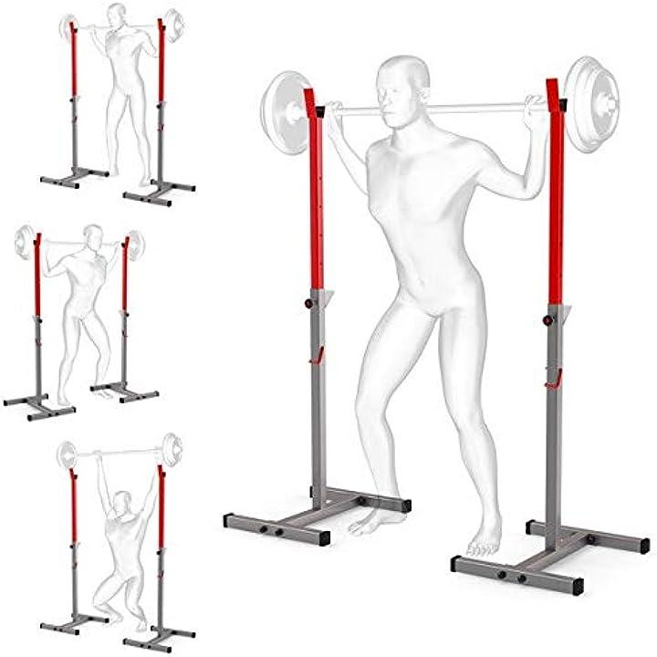 Supporto per bilanciere regolabile, per casa e palestra, portatile, per allenamenti ed esercizi k-sport KSH012
