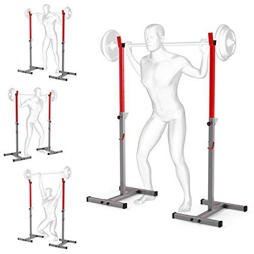 K-Sport, Supporto per bilanciere regolabile, per casa e palestra, portatile, per allenamenti ed esercizi