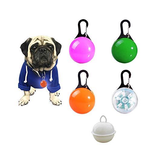 Sicherheits Clip-On LED Blinklicht für Haustier Sicherheit, 3 Blinkmodis, wasserdichte Sicherheit Haustier Lichter für Hunde, Katzen - 4PCS + 1 Stück Glöckchen