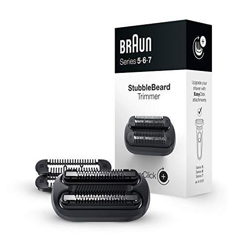 Braun EasyClick Stubble Beard Trimmer Attachment for Series 5, 6 and 7 Electric Shaver 5018s, 5020s, 6075cc, 7071cc, 7075cc, 7085cc, 7020s, 5050cs, 6020s, 6072cc, 7027cs