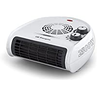 Orbegozo FH 5030 - Calefactor de aire con termostato regulable, 2500 W de potencia, 2 posiciones de calor y función ventilador, Blanco