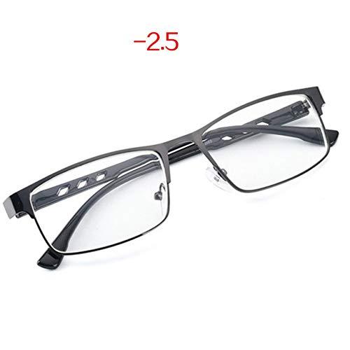 Yangjing-hl Gafas de Sol sin Montura para Mujer Gafas graduadas para Mujer Gafas de miopía terminadas Gafas de Sol para Hombres y Mujeres Marco de Metal Retro
