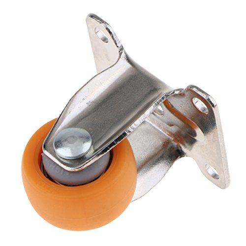 Schwerlast-Oberplatte, Feste Rollen aus Nylon für Möbel, 2,5 cm, a (Orange) - JOENS-6589V
