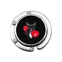 テーブルフック バッグホルダー 財布ハンガー バッグハンガー ボクシング フレンチブルドッグ 犬 ワンチャン 携帯型フック 荷物フック 円形 ハンドバッグフック 多機能フック ポータブル 丈夫 軽量 インストールが簡単 人気 耐荷重5kg
