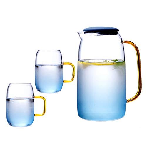 MEIBAOGE - Hervidor de té Seguro para Estufa, colador de té, Tetera de Vidrio con Juego de infusor, microondas, Apto para lavavajillas, Tetera de Hojas Sueltas y florecientes, Clip de Abrazadera
