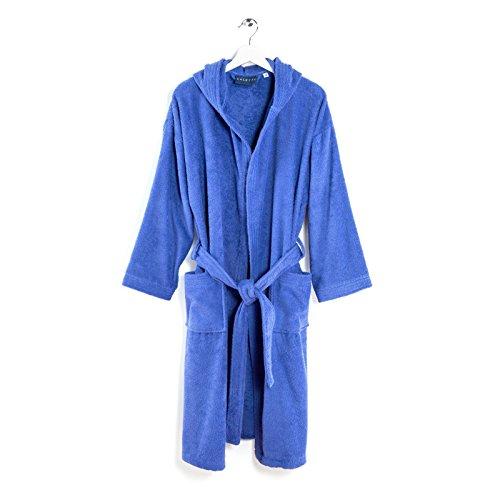 accappatoio donna doccia Caleffi Set in Spugna Viso ed Ospite Telo Doccia Accappatoio (Blu