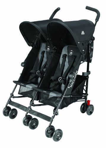 Maclaren Twin Triumph Double Stroller - Black/Charcoal - One Size